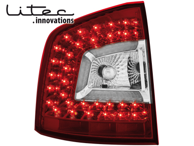 LITEC LED Rückleuchten Skoda Octavia 1Z 04+ red/crystal