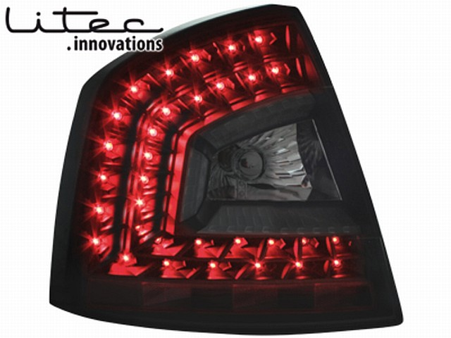 LITEC LED Rückleuchten Skoda Octavia 1Z Lim. 04-11 black/smoke