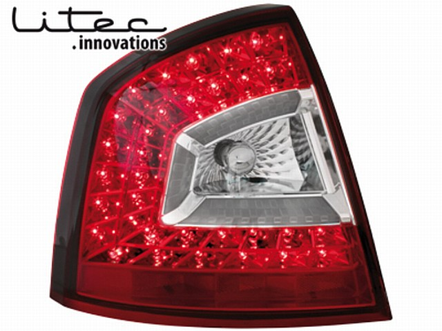 LITEC LED Rückleuchten Skoda Octavia 1Z Lim. (04-11) red/clear