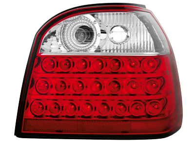 LED Rückleuchten VW Golf III 91-98 red/crystal