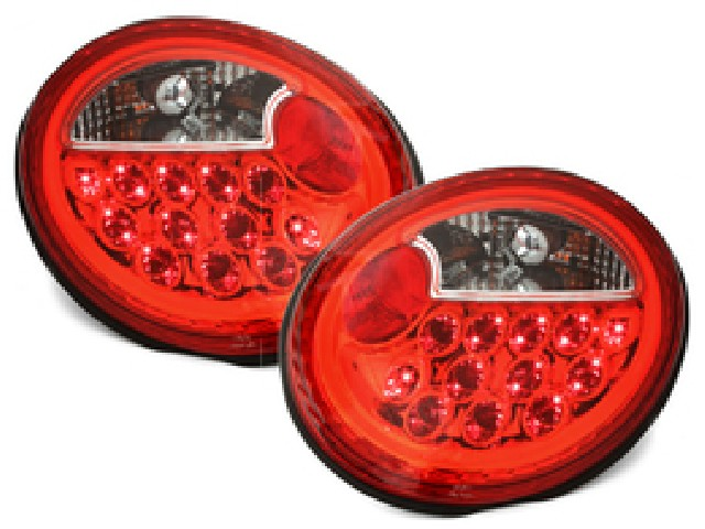 LED RÜCKLEUCHTEN VW NEW BEETLE 97-10_ RED/CRYSTAL