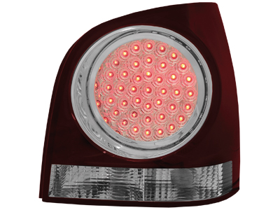 LED Rückleuchten VW Polo 9N 3+5T 11.01-05.09 red/crystal