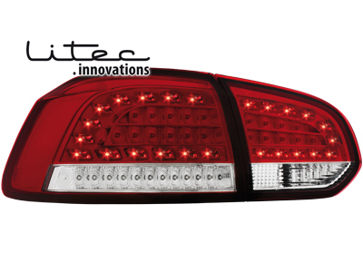 LITEC LED Rückleuchten VW Golf VI LED Blinker red/crystal