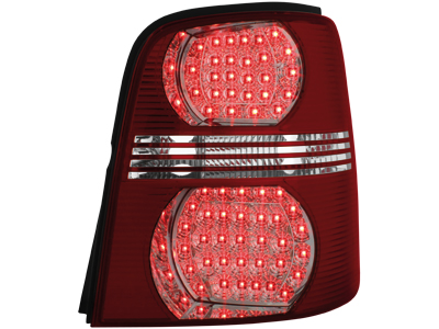 LED Rückleuchten VW Touran 2003+ red/crystal