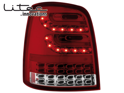LITEC LED Rückleuchten VW Touran 2003+ red/crystal