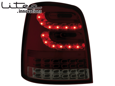 LITEC LED Rückleuchten VW Touran 2003+ red/smoke