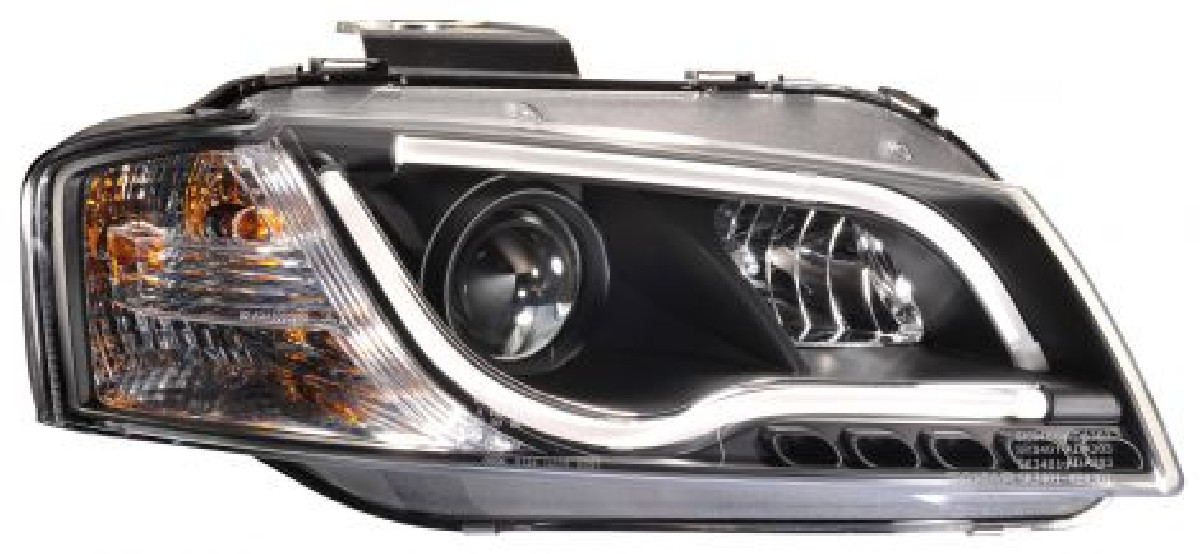Audi A3 8P 03-08 Headlights Set Black