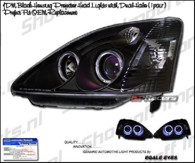 Honda Civic 01-05 3D Projector Headlights Black KS