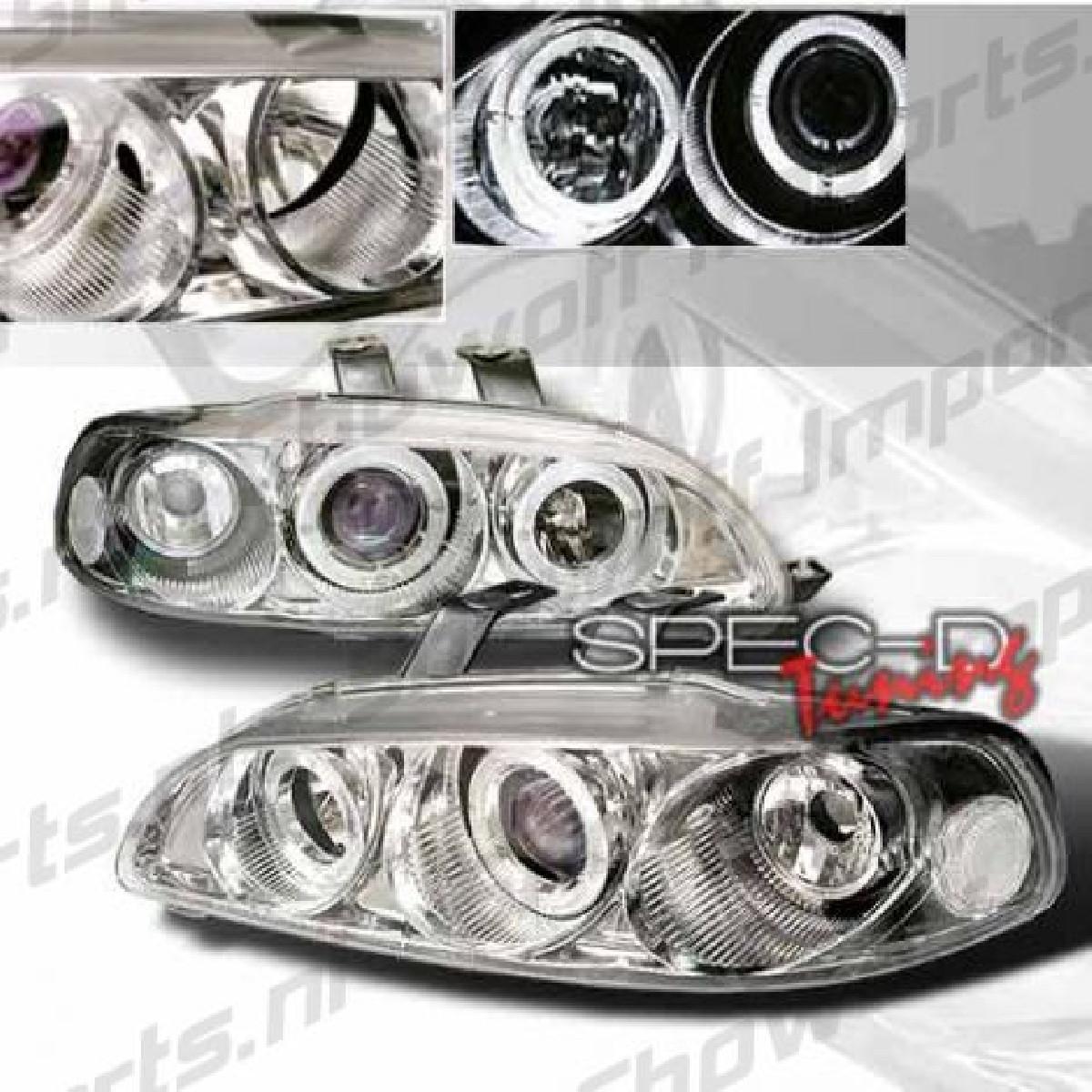 Honda Civic 92-95 4D 1-Piece Chrome Angeleye Headlights Sonar