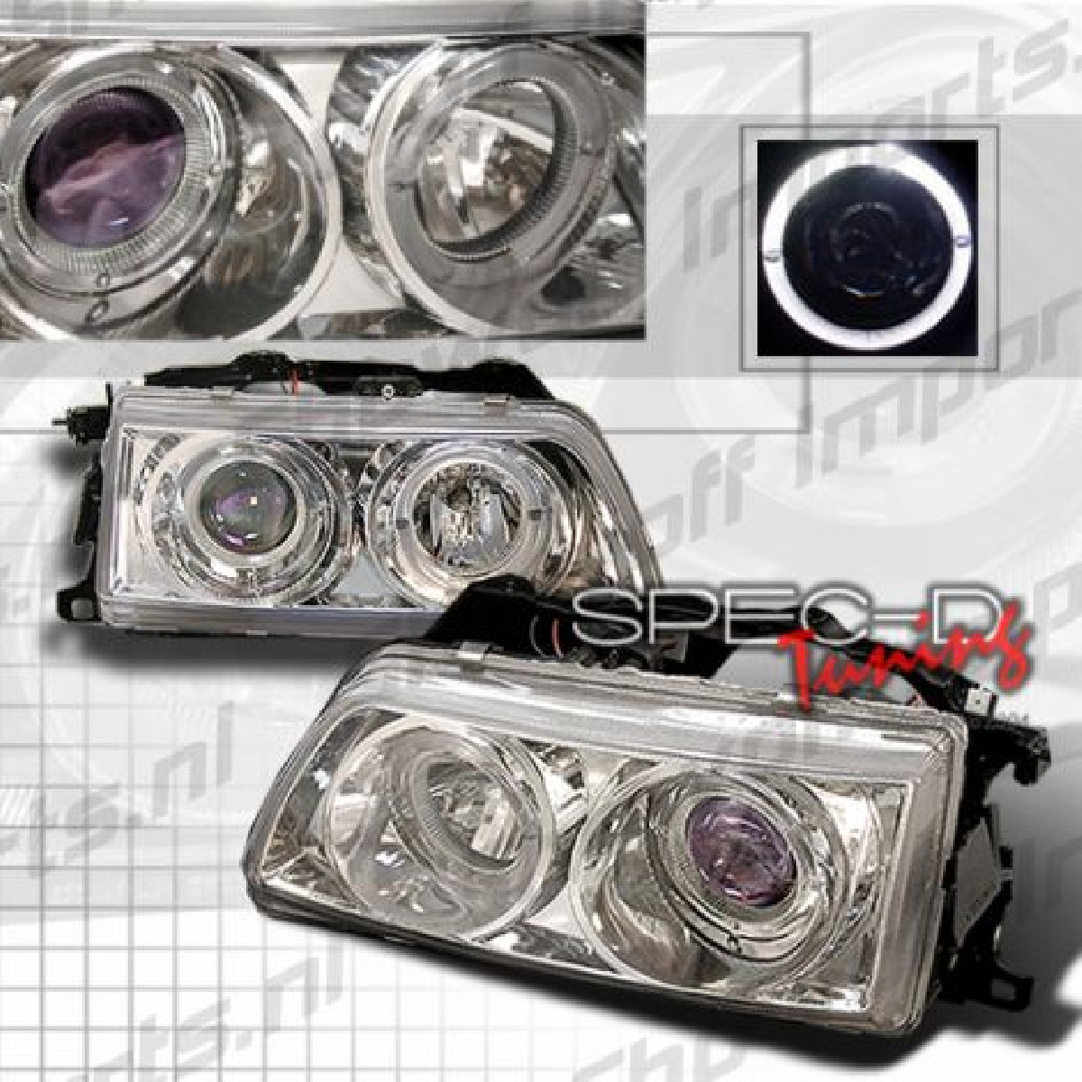 Honda Civic/CRX 90-91 Proj. Headlights Chrome [SR]