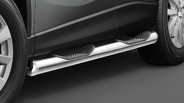 Schwellerrohre mit Trittflächen, Edelstahl  80 mm für Mazda CX-5