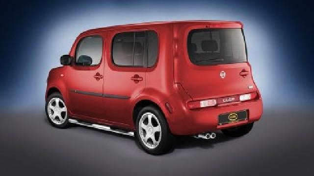 Schwellerrohre mit Trittflächen, Edelstahl  60 mm für Nissan Cube