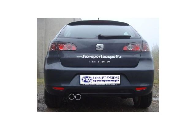 FOX Seat Ibiza Sport 6L  Endschalldämpfer - 2x70 Typ 13