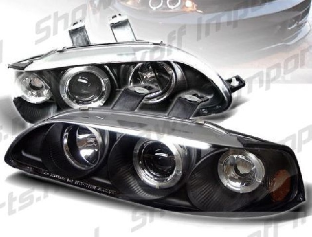 Honda Civic 92-95 4D 1-Piece Black Angeleye Headlights Sonar