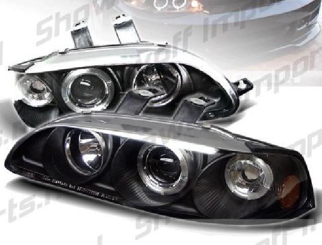 Honda Civic 92-95 4D 1-Piece Black Angeleye Headlights Sonar