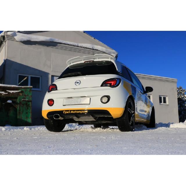 Opel Adam S Endschalldämpfer quer Ausgang links - 140x90