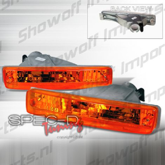 Honda CRX 90-91 JDM Amber Clear Front Bumper Lights
