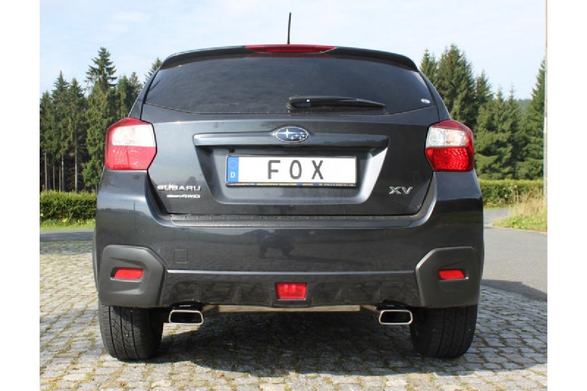 Sportauspuff Subaru XV Endschalldämpfer quer Ausgang rechts/links - 145x65  rechts/links