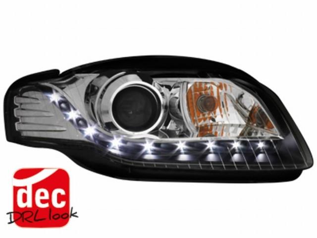 Tagfahrlicht-Optik Scheinwerfer AUDI A4 B7 (04-08) Xenon schwarz