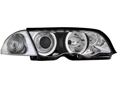 Scheinwerfer BMW 3er E46 Lim. 98-01 2 Standlichtringe chrome