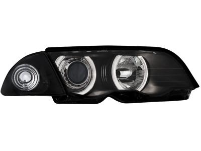 Scheinwerfer BMW 3er E46 Lim. 98-01 2 Standlichtringe black