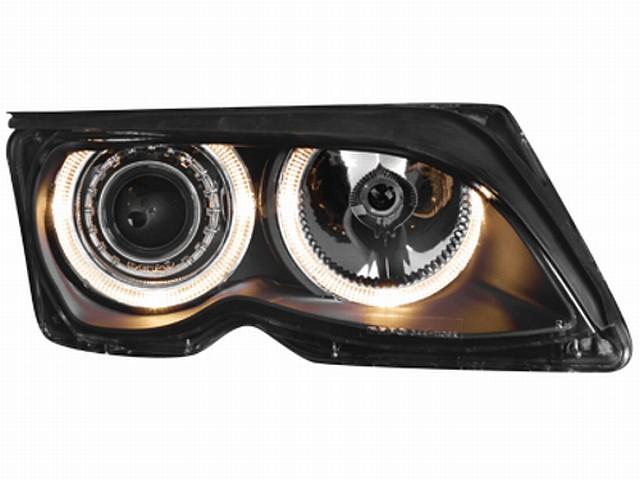 Scheinwerfer BMW 3er E46 Lim. (01-04) 2 Standlichtringe black