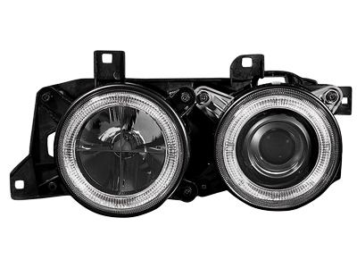 Scheinwerfer BMW 7er E32 88-92 2 Standlichtringe black