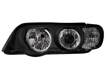 Scheinwerfer BMW X5 E53 99-03 HID 2 Standlichtringe black