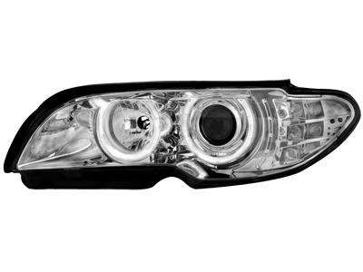 Scheinwerfer BMW 3er E46 2T 03-06 2 Standlichtringe chrome