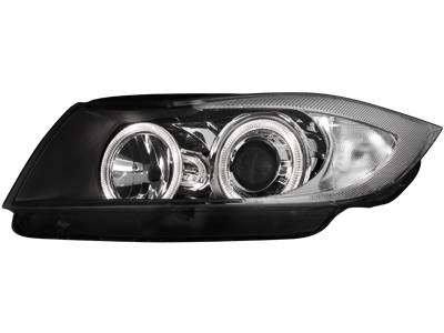 Scheinwerfer BMW 3er E90 2 Standlichtringe black