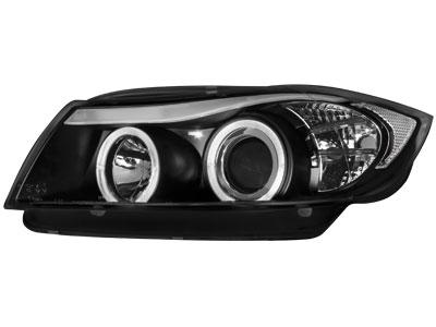 Scheinwerfer BMW 3er E90/E91 2 Standlichtringe schwarz