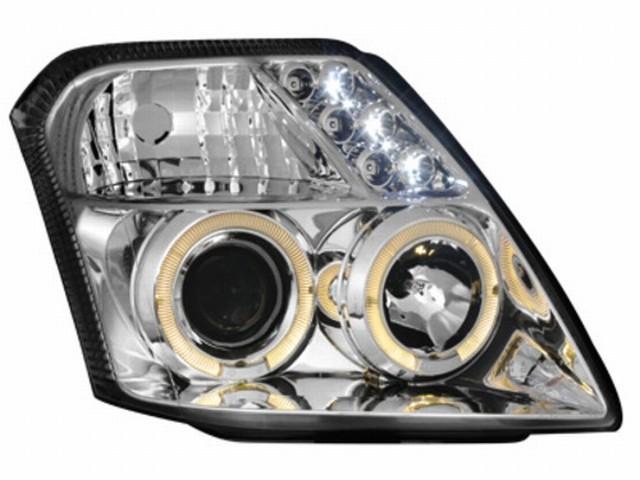 Scheinwerfer Citroen C2 (03+) 2 Standlichtringe chrome