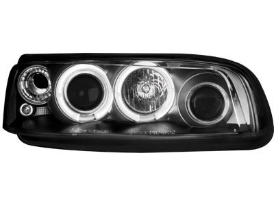 Scheinwerfer Fiat Punto 99-03 2 Standlichtringe black