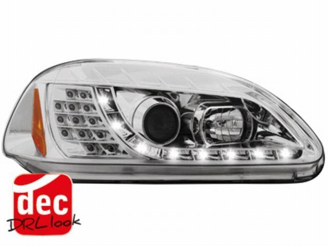 Tagfahrlicht-Optik Scheinwerfer Honda Civic 2/5T (96-98) chrom