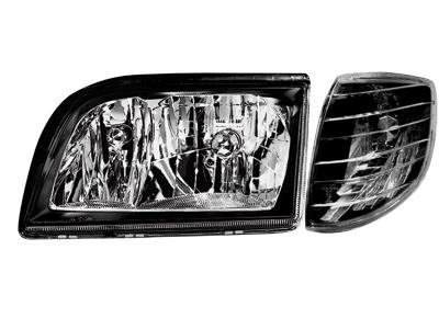 Scheinwerfer Mercedes S-Klasse W140 92-98 black