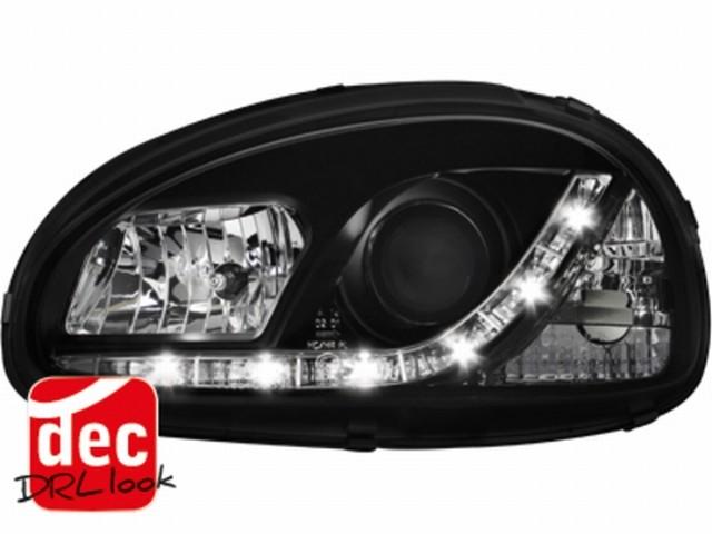 Tagfahrlicht-Optik Scheinwerfer Opel Corsa B 3/5T schwarz