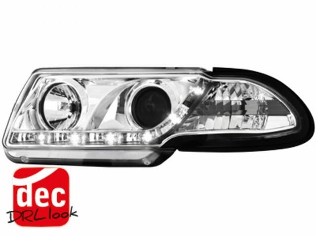 Tagfahrlicht-Optik Scheinwerfer Opel Astra F 91-94 chrom
