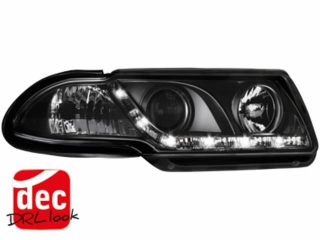 Tagfahrlicht-Optik Scheinwerfer Opel Astra F 91-94 schwarz
