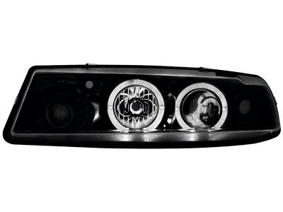Scheinwerfer Opel Calibra 90-97 2 Standlichtringe black