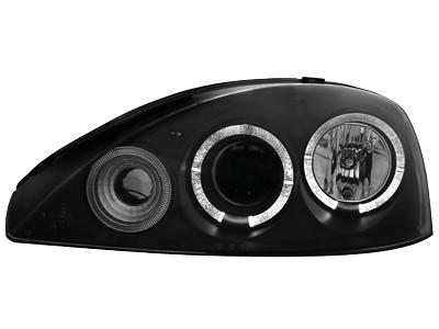 Scheinwerfer Opel Corsa C 01-06 2 Standlichtringe black