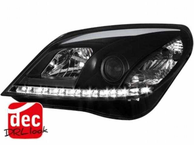 Tagfahrlicht-Optik Scheinwerfer Opel Astra H 04-09 schwarz