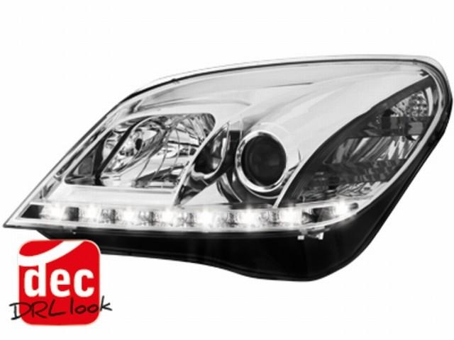 Tagfahrlicht-Optik Scheinwerfer Opel Astra H 04-09 chrom