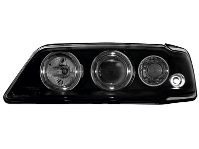 Scheinwerfer Peugeot 405 87-96 2 Standlichtringe black