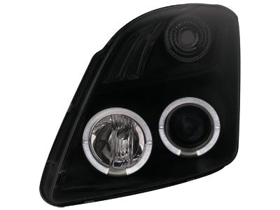 Scheinwerfer Suzuki Swift 05-10 2 Standlichtringe black