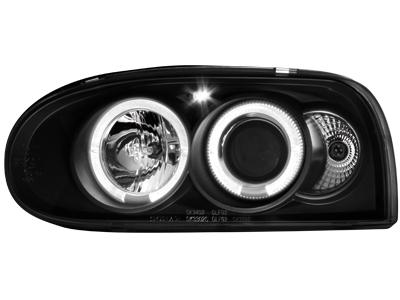 Scheinwerfer VW Golf III 92-98 2 Standlichtringe black