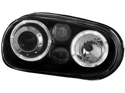 Scheinwerfer VW Golf IV 97-04 2 Standlichtringe black