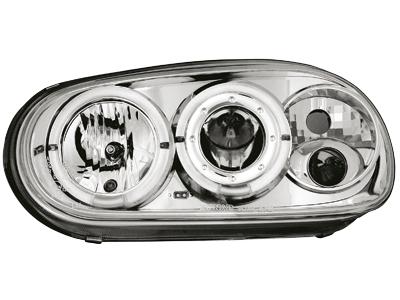 Scheinwerfer VW Golf IV 97-04 2 Standlichtringe RHD chrome