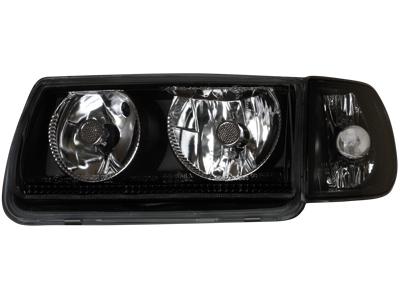 Scheinwerfer VW Polo 6N 95-98 ohne Standlichringe black