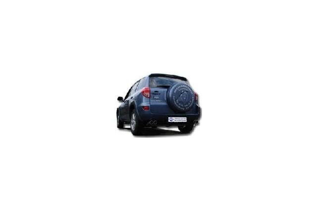 FOX Toyota RAV 4 III  Endrohrsystem rechts/links passend auf original Mittelschalldämpfer - 2x80 Typ 17 rechts/links