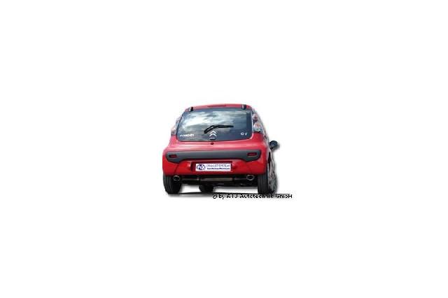 FOX CitroenC1/ Peugeot 107/ Toyota Aygo  Endschalldämpfer Ausgang rechts/links - 106x71 Typ 33 rechts/links